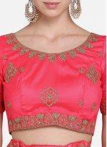 Rose Pink Net Lehenga Choli
