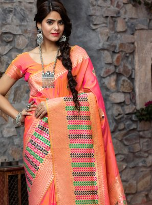Rose Pink Traditional Designer Saree