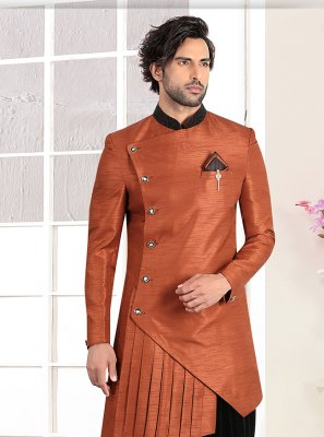 Rust Buttons Ceremonial Indo Western