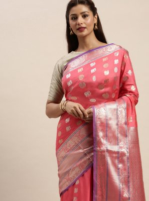 Salmon Silk Traditional Saree
