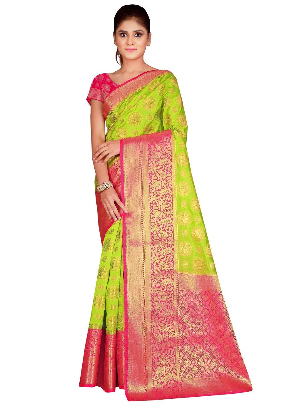Saree Weaving Silk in Green