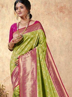 Saree Weaving Silk in Multi Colour
