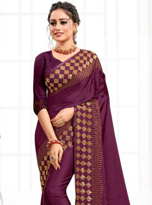 Satin Contemporary Saree