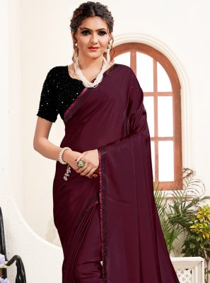 Satin Festival Trendy Saree