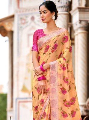 Satin Multi Colour Traditional Saree