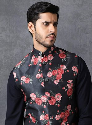 Satin Nehru Jackets in Multi Colour