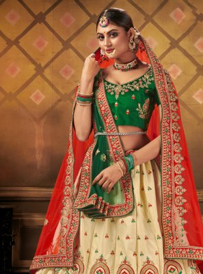 Satin Reception Trendy Lehenga Choli