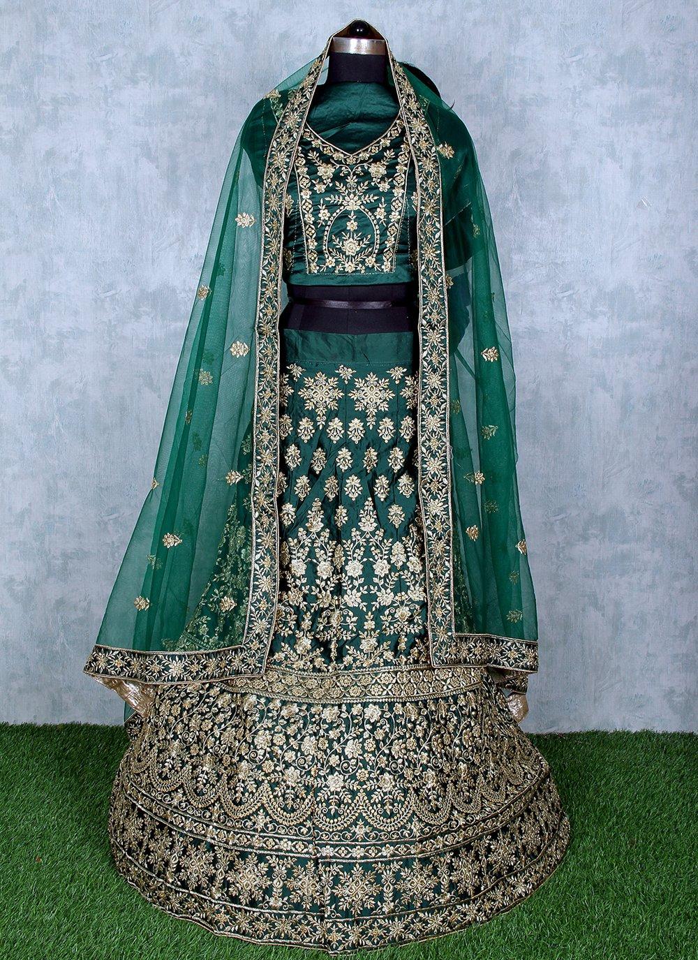 Satin Sangeet Lehenga Choli
