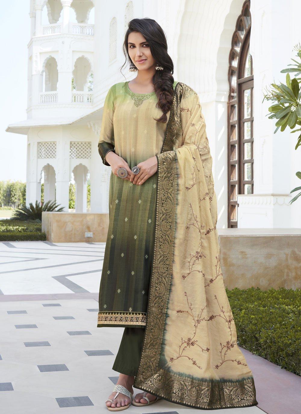 Satin Silk Designer Palazzo Salwar Suit