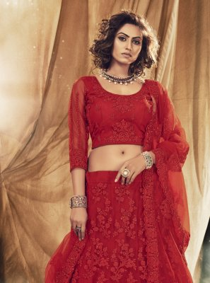 Satin Silk Engagement Lehenga Choli