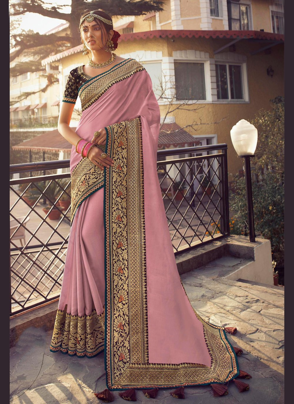 Satin Silk Fancy Traditional Saree