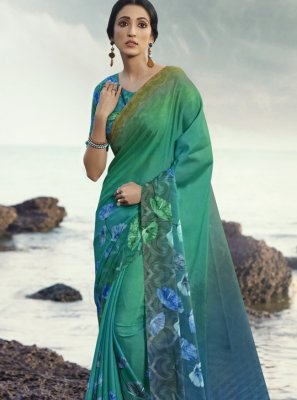 Satin Silk Festival Printed Saree