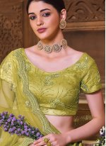 Satin Silk Green Lehenga Choli