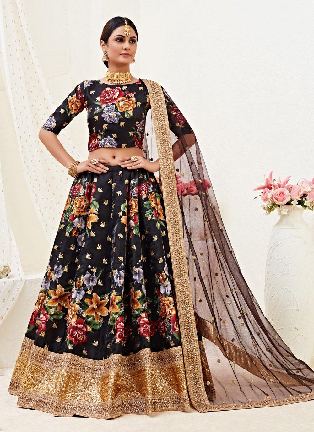 Satin Silk Wedding Lehenga Choli