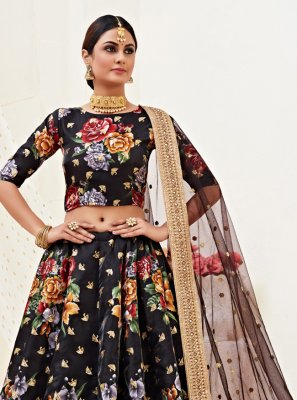 Satin Silk Wedding Lehenga Choli