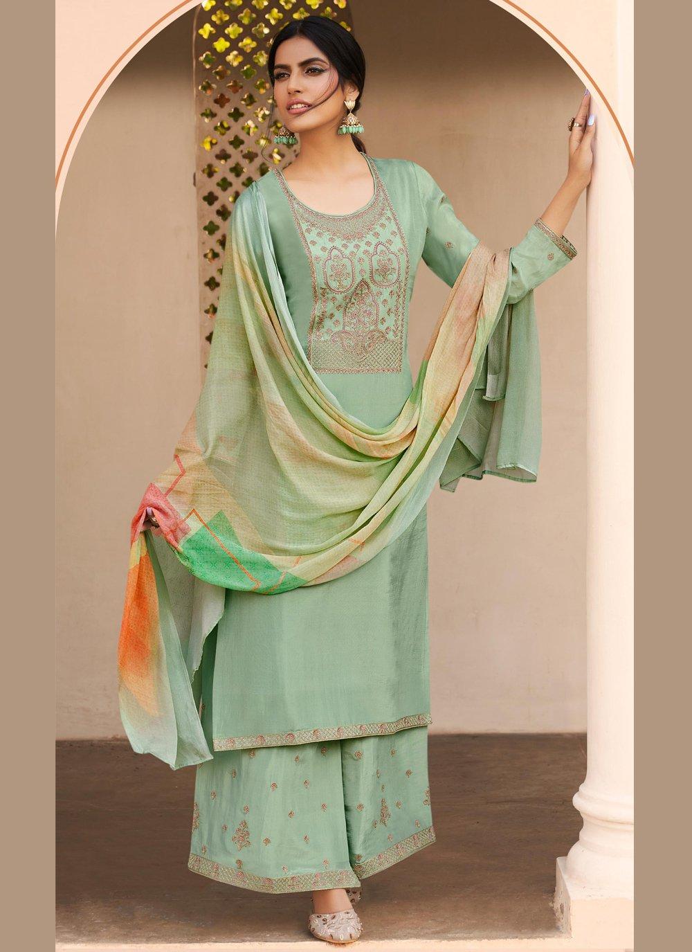 Sea Green Ceremonial Designer Pakistani Salwar Suit