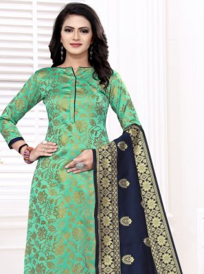 Sea Green Color Churidar Suit