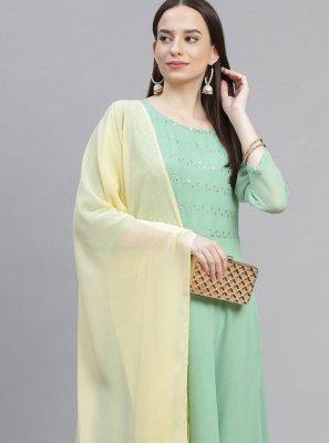 Sea Green Color Designer Suit