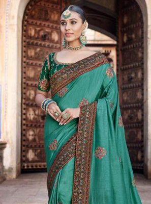 Sea Green Designer Traditional Saree