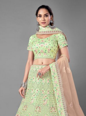 Sea Green Dori Work Net Lehenga Choli