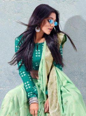 Sea Green Fancy Traditional Saree