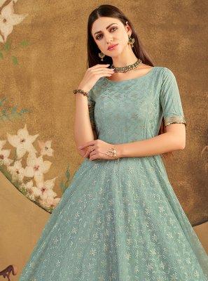 Sea Green Festival Designer Gown