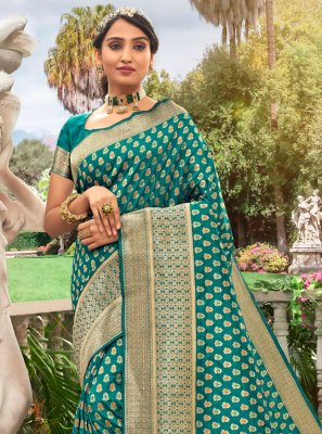 Sea Green Meena Festival Designer Traditional Saree