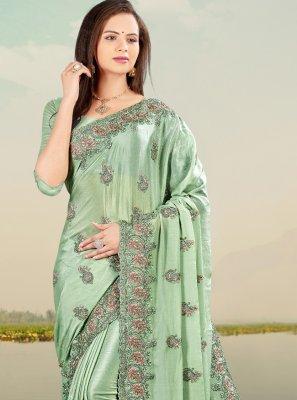 Sea Green Mehndi Classic Designer Saree