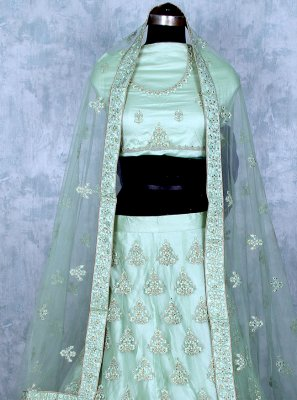 Sea Green Mehndi Lehenga Choli