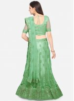 Sea Green Net Lehenga Choli
