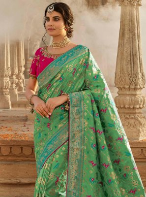 Sea Green Sangeet Designer Traditional Saree