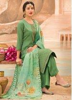 Sea Green Silk Festival Designer Pakistani Suit