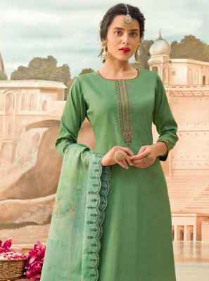 Sea Green Silk Festival Designer Pakistani Suit