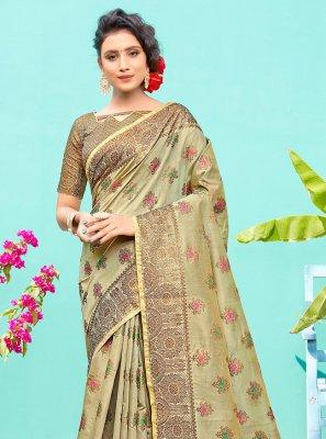 Sea Green Silk Weaving Traditional Designer Saree