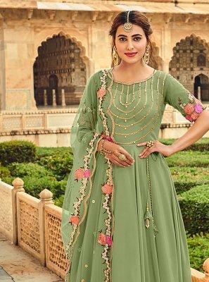 Sea Green Stone Trendy Salwar Suit