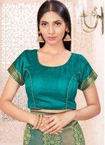 Sea Green Weaving Banarasi Silk Traditional Saree