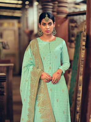Sea Green Wedding Designer Palazzo Suit