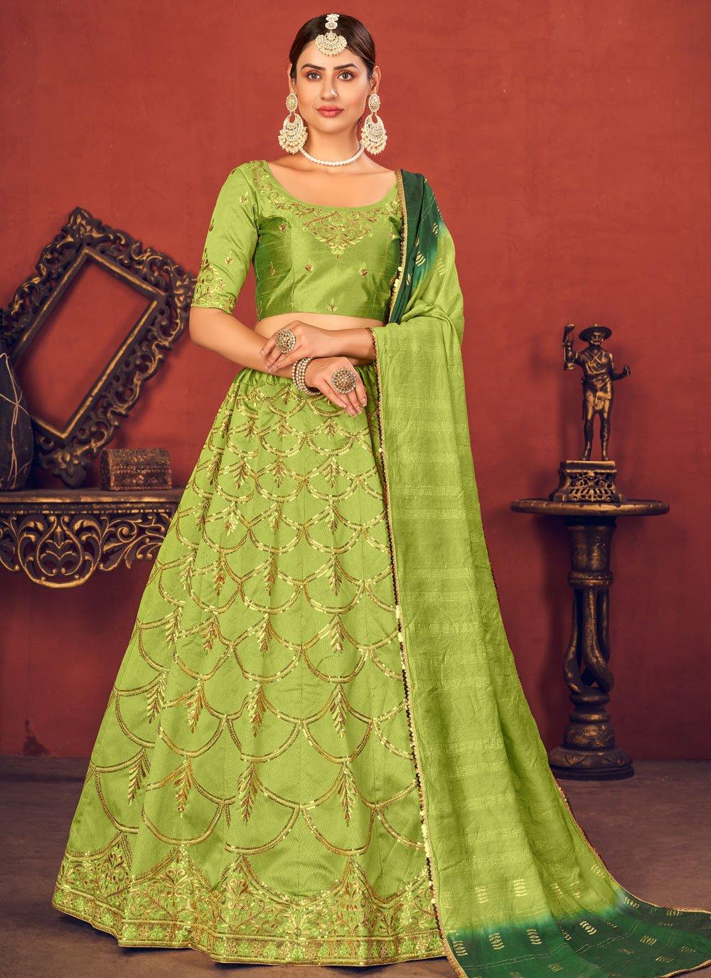 Sequins Art Silk Lehenga Choli
