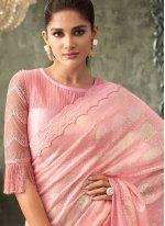 Sequins Pink Contemporary Saree
