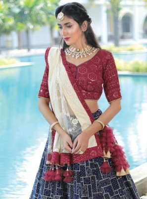 Sequins Readymade Lehenga Choli