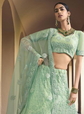 Sequins Sea Green Lehenga Choli