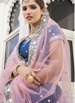Sequins Silk Designer Lehenga Choli in Blue