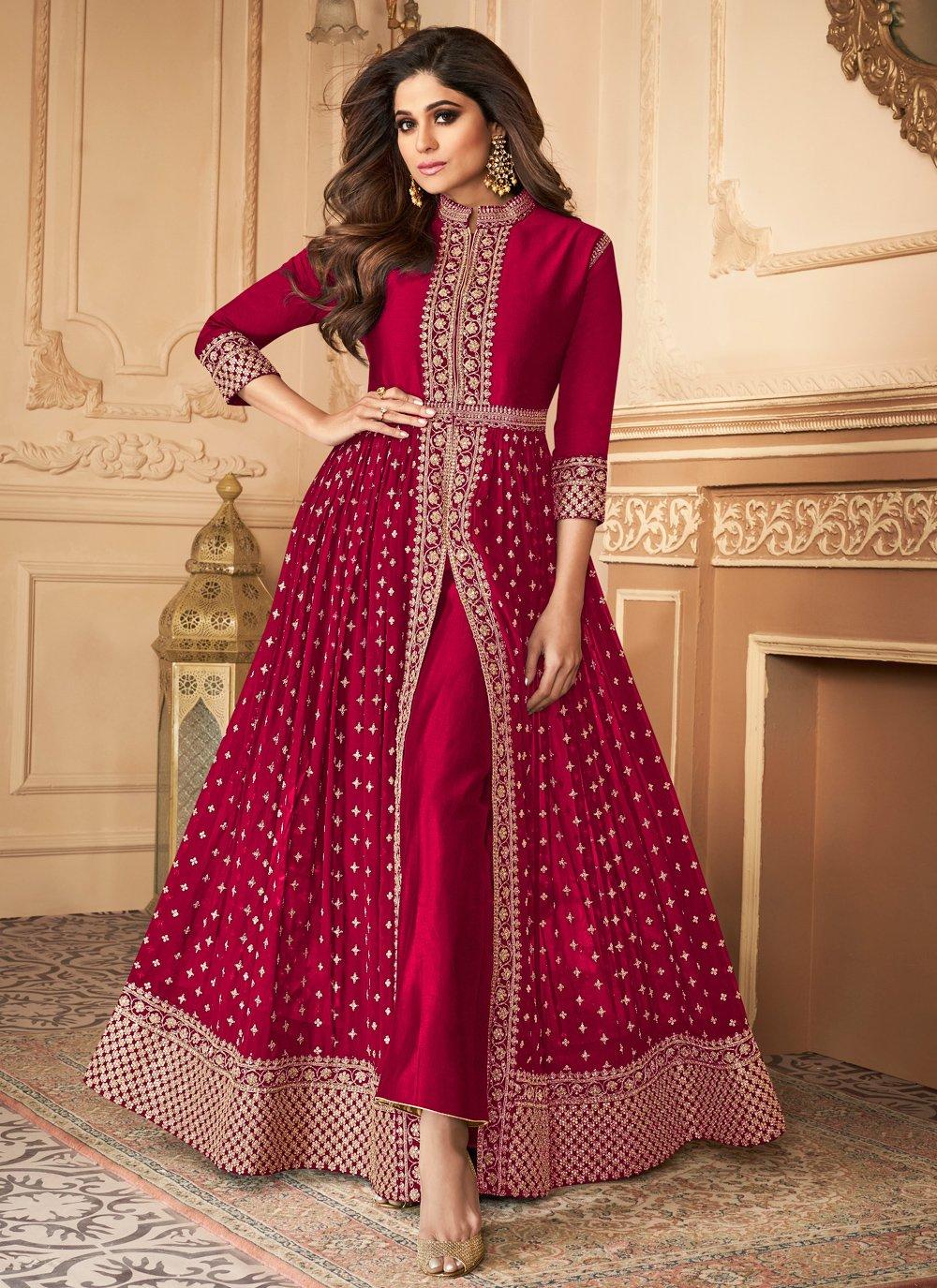 Shamita Shetty Designer Floor Length Suit