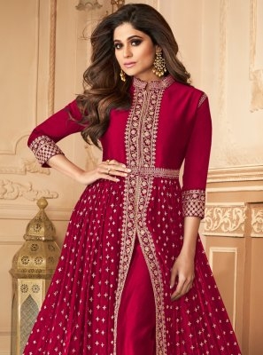 Shamita Shetty Designer Floor Length Suit