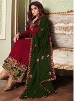 Shamita Shetty Elite Magenta Designer Palazzo Suit