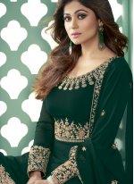 Shamita Shetty Embroidered Designer Suit