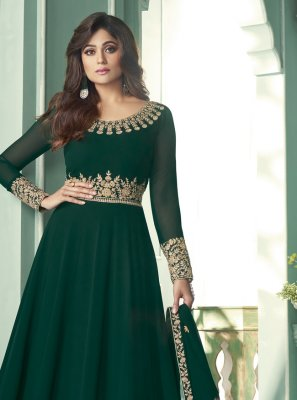Shamita Shetty Embroidered Designer Suit