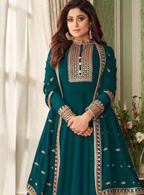 Shamita Shetty Faux Georgette Floor Length Designer Suit