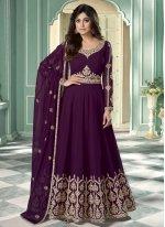 Shamita Shetty Faux Georgette Resham Designer Suit