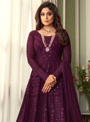 Shamita Shetty Floor Length Anarkali Suit
